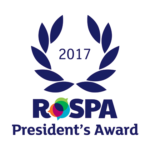 President's Award 2017 rospa